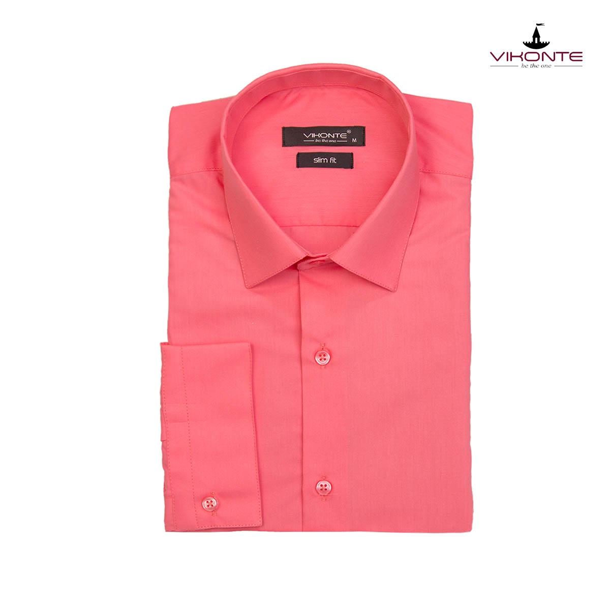 Официална мъжка риза корал