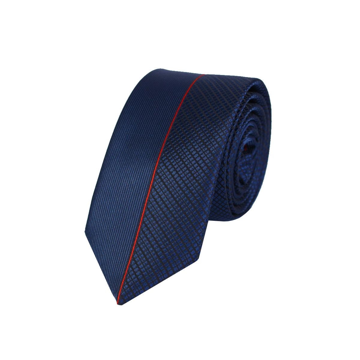 синьо червена мъжка вратовръзка