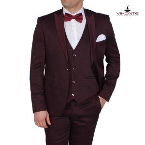 мъжки костюм бордо