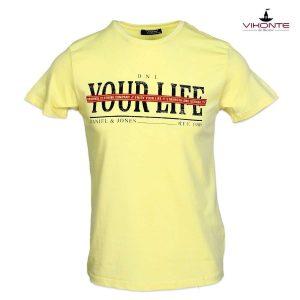 жълта мъжка тениска