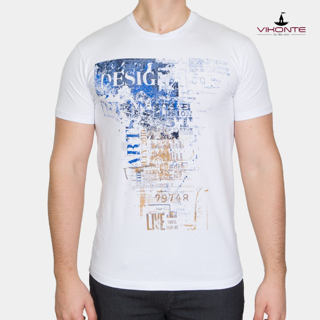 Лятна мъжка тениска с щампа